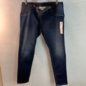 Maternity Dark/Medium Wash Skinny Jeans